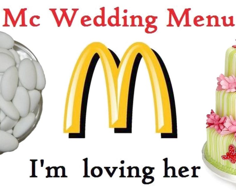Matrimonio low cost Mc Donalds propone il Mc Wedding
