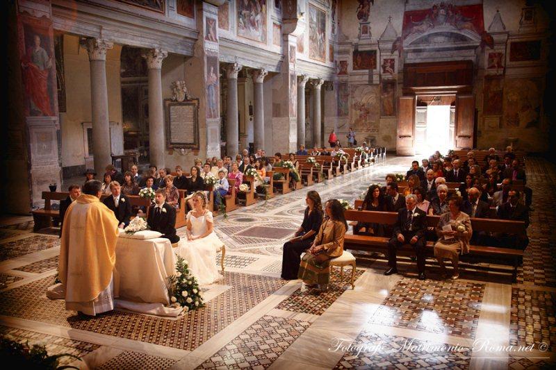 Matrimonio In Separazione Beni : Basilica di santa francesca romana roma the wedding
