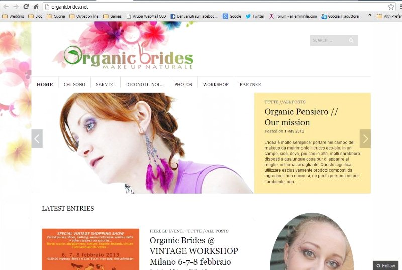 Organic Brides make up ecologico