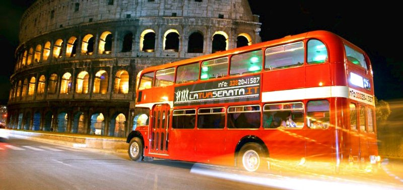 Evento a bordo del Bus Inglese